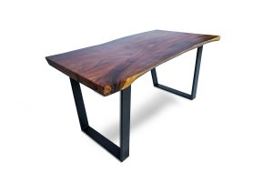 Benicia Dining Table with Black leg