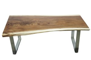 Chico Dining Table with Brushed Stainless leg