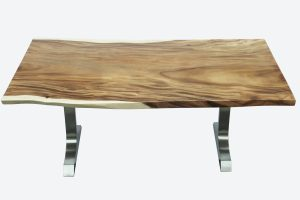 Alameda Dining Table with Brushed Stainless Leg