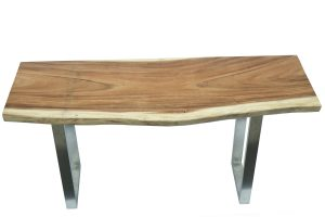 Portola Console Table in Brushed Stainless leg