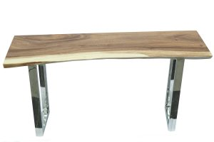 Portola Console Table in Stainless leg