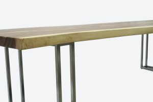 Montebello Dining Table with Brushed Stainless Leg