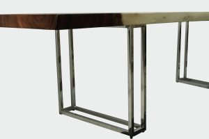 Montebello Dining Table with Stainless Leg