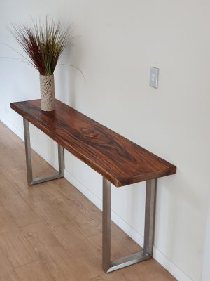 Caledon 180 Brushed Stainless Steel Console Table